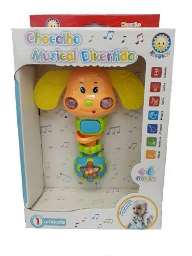 Chocalho Musical Divertido Cachorrinho