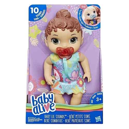 Boneca Baby Alive - Bebê Primeiros Sons Morena E3688