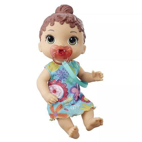 Baby Alive Boneca Bebê Primeiros Sons Morena Original - Hasbro E3688