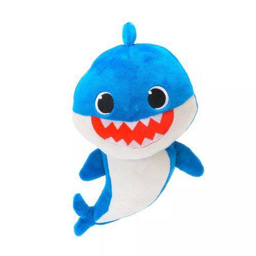 Pelúcia Musical Baby Shark Toyng Azul