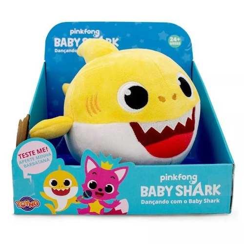 Pelúcia Com Movimento E Som Baby Shark - Toyng