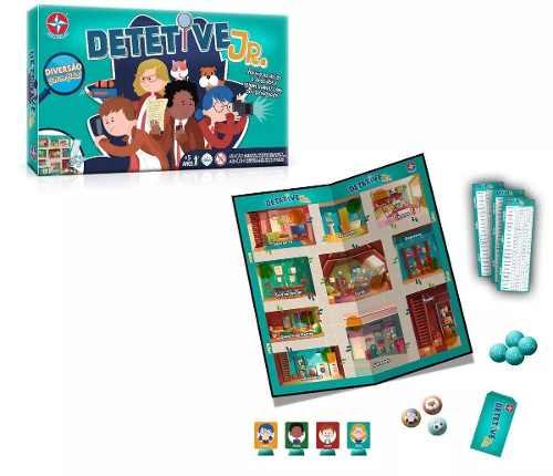 Jogo De Tabuleiro Infantil Detetive Junior Estrela-5257