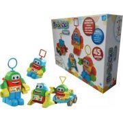 Brinquedo Educativo Bebe +6 Meses Robozinho Didático Maral 45 Pçs
