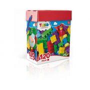 Blocos De Montar Tand Kids - Baú 120 Peça
