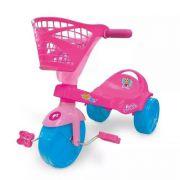 Triciclo Estiloso Com Cestinha Barbie - Rosa - Xalingo