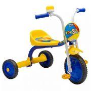 Triciclo Motoca Para Menino Boy Nathor Amarelo Azul You3