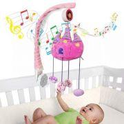 Móbile Em Pelúcia Giratório Musical De Bebê Fun