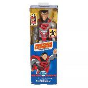 Boneco Superman Armadura De Aço - Liga Da Justiça 30cm