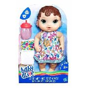 Boneca Baby Alive Morena Hora Do Xixi Hasbro - E0499 FULL