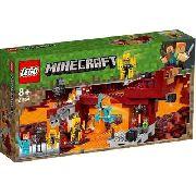 Lego Minecraft - A Ponte Flamejante 372 Peças - 21154 FULL