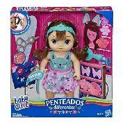 Boneca Baby Alive Penteados Diferentes Morena - Hasbro E5242 FULL