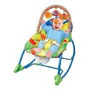 Cadeira Bebê Descanso Vibratória Musical Balanço Animais-Baby Style