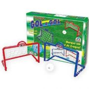 Kit Mini Traves Infantil Gol A Gol Com Bola Braskit