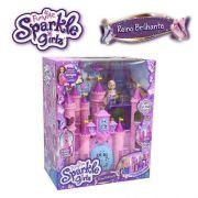 Playset E Mini Figura Sparkle Girlz Castelo Reino Brilhante