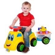 Carrinho De Passeio Baby Ride Com Trailer Colorido 3060