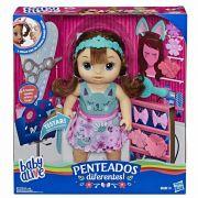 Baby Alive Boneca Penteados Diferentes Morena - Hasbro E5242