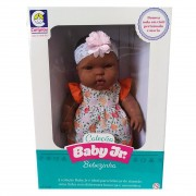 Boneca Bebê Baby Junior Vinil Negra - Cotiplás 2220