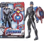 Boneco Capitão América 30Cm Titan Hero PowerFX E3301 -Hasbro