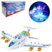 Brinquedo Avião Bate e Volta 30cm com Som e Luz - DmToys