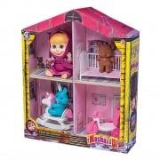 Brinquedo Casa da Masha E O Urso Com Acessórios - Cotiplás