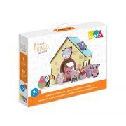 Brinquedo Educativo Passa Figuras Animais da Fazenda - Babebi