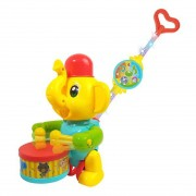 Brinquedo Infantil Empurra Baby Musical Elefante - DmToys