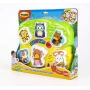 Brinquedo Infantil Encaixe os Bichos com Som e Luz -WinFun