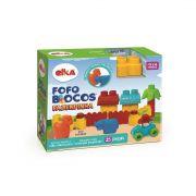 Brinquedo Infantil Fofo Blocos Fazendinha 25 Peças Elka