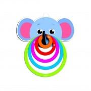 Brinquedo Infantil Lança Argolas Elefantinho - Babebi 6052