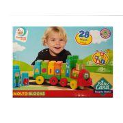 Brinquedo Infantil Trenzinho Didatico 28 Peças - Cardoso