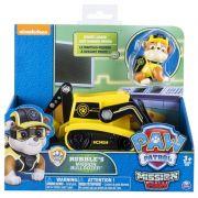Brinquedo Patrulha Canina Mission Paw Boneco Veiculo Rubble - Sunny