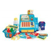 Caixa Registradora Mercadinho Infantil Azul Multikids Br387