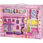 Casa de Boneca Casinha dos Sonhos Rosa Moveis - Braskit