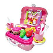 Cozinha Infantil De Maleta Playset Mini Chef 26 Pçs Xalingo
