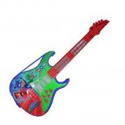 Guitarra Infantil Pj Masks Musical Com Som E Luz Candide