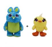 Kit Pelúcia Bunny Coelho e Ducky Pato Toy Story 4 - Toyng
