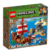LEGO Minecraft  A Aventura do Barco Pirata 386 Pçs - 21152