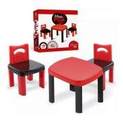 Mesinha Infantil Poá Red Com 2 Cadeiras - Simo Toys