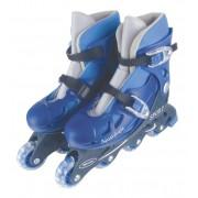 Patins Infantil In-Line Ajustável Azul do 38-41 Fênix PN01A
