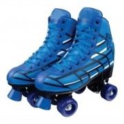 Patins Infantil Roller Skate 4 Rodas do 36-37 Azul - Fênix
