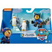 Patrulha Canina Pack de Resgate com Amigo Chase e Pinguins - Sunny Brinquedos