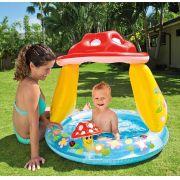Piscina Infantil Cogumelo Divertido 45L Com Cobertura -Intex