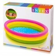 Piscina Infantil Fundo inflável 136L Por do Sol Intex 57412