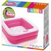 Piscina Infantil Inflável Soft Com Fundo Inflável 57L Rosa