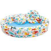 Piscina Infantil Peixinhos c/ Acessorios 248L - Intex