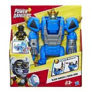 Power Rangers Boneco Ranger Preto E Rhino Zord - Hasbro E5867