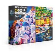 Quebra Cabeça Litorais Europeus 2x1000 Peças - Toyster