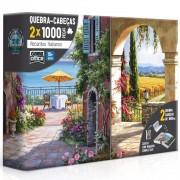 Quebra Cabeça Recantos Italianos 2x1000 Peças - Toyster