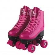 Roller Skate Infantil Ajustável Rosa do 35-38 - Fenix