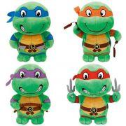 Tartarugas Ninja Kit Pelucia Ty Beanis -Original